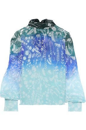 PETER PILOTTO Floral-print dégradé silk-georgette blouse