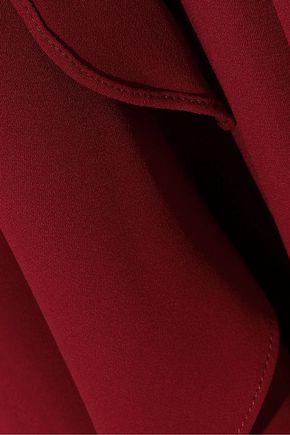 HALSTON HERITAGE Layered crepe jumpsuit