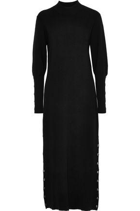 JONATHAN SIMKHAI Hook-detailed stretch-wool midi dress