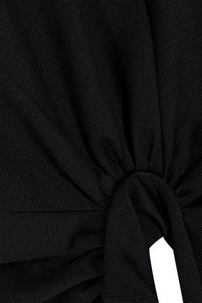 ROSETTA GETTY Gathered cotton-blend faille top