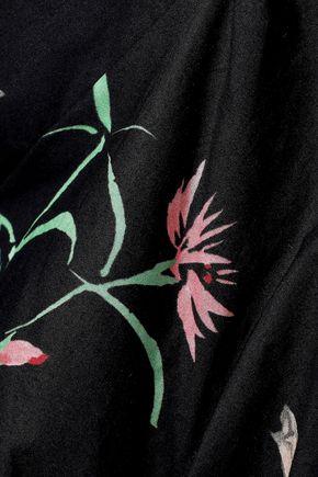PETER PILOTTO Ruffle-trimmed printed cotton-poplin blouse