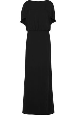 HALSTON HERITAGE Gathered crepe gown