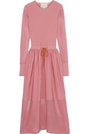 ROKSANDA Ribbed and stretch-knit midi dress