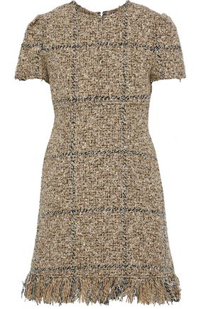 SONIA RYKIEL Fringed tweed mini dress