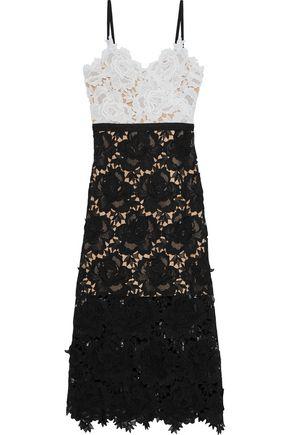 CATHERINE DEANE Frida floral-appliquéd guipure lace midi dress