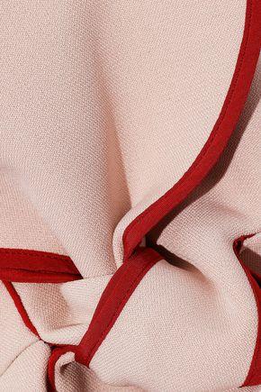 ROKSANDA Bow-detailed crepe peplum top