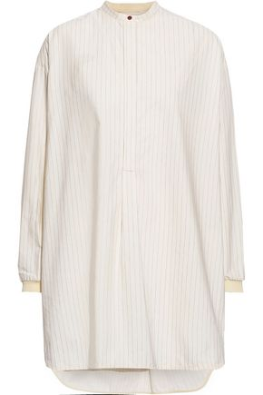 ROKSANDA Pinstriped cotton-poplin tunic