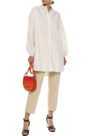 ROKSANDA Pinstriped cotton-poplin tunic
