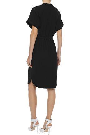 IRIS & INK Solveig belted crepe shirt dress