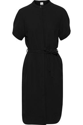IRIS & INK ベルト付き クレープ シャツドレス