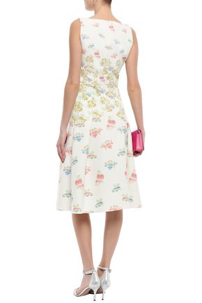 PETER PILOTTO Pleated printed cady dress