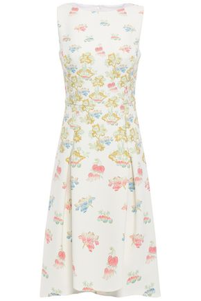 PETER PILOTTO Pleated floral-print crepe dress