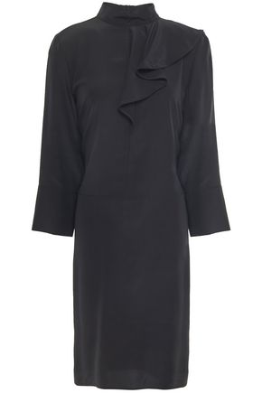 MARNI Ruffled silk crepe de chine dress