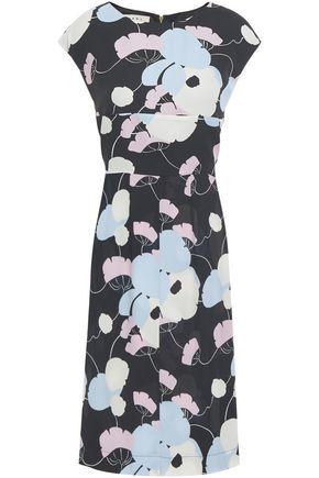 MARNI Floral-print crepe dress