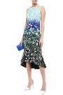 PETER PILOTTO Fluted printed cady midi dress