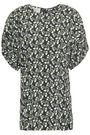 MARNI Ruched floral-print crepe blouse