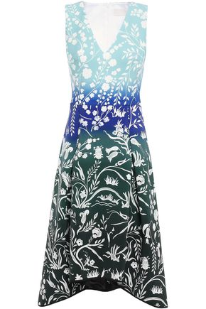 PETER PILOTTO Pleated printed crepe dress