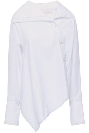 PETER PILOTTO Asymmetric cotton-poplin shirt
