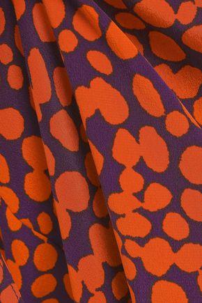 ANINE BING Printed silk crepe de chine shirt