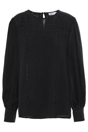 ANINE BING Silk-georgette blouse