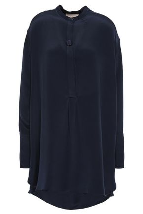 ROKSANDA Moroccan button-embellished silk-crepe tunic
