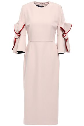 ROKSANDA Bow-embellished stretch-crepe dress