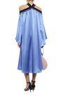 ROKSANDA Cold-shoulder silk-satin midi dress