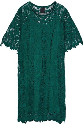 ANNA SUI Velvet-trimmed guipure lace dress