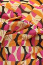 DE LA VALI Ruched floral-print silk-crepe maxi dress