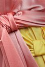 ROKSANDA Knotted color-block silk-satin and twill midi dress