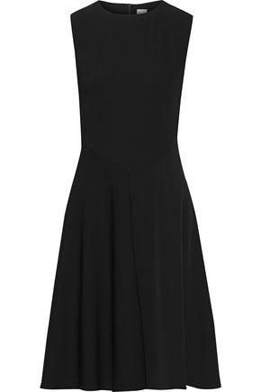 IRIS & INK Ragna fluted washed-crepe dress