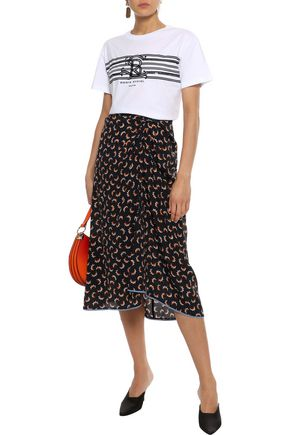 SONIA RYKIEL Sequin-embellished printed cotton-jersey T-shirt