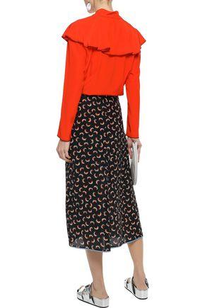 SONIA RYKIEL Ruffled washed-silk blouse