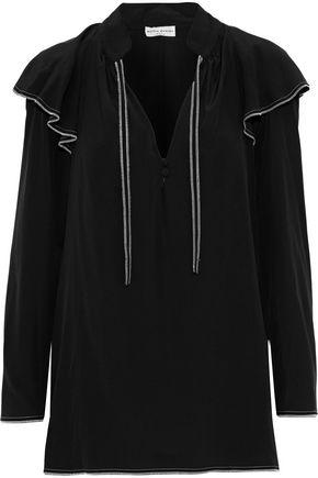 SONIA RYKIEL Ruffled silk crepe de chine blouse