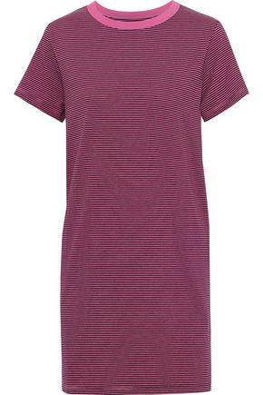 CURRENT/ELLIOTT The Beatnik striped cotton-blend jersey mini dress