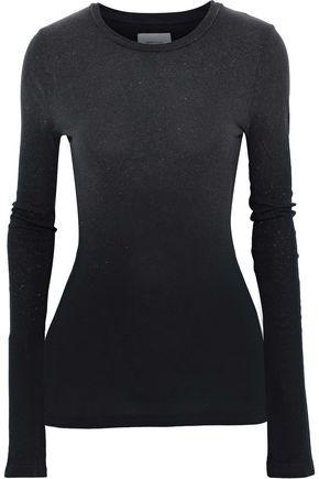 CURRENT/ELLIOTT The Hallan metallic cotton-jersey top