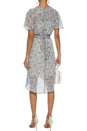 ANNA SUI Wrap-effect printed silk-chiffon dress