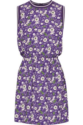 ANNA SUI Floral-print crepe de chine mini dress