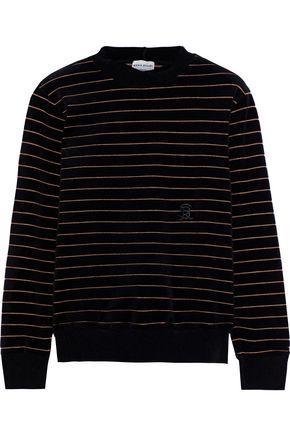 SONIA RYKIEL Metallic striped cotton-blend velour sweatshirt
