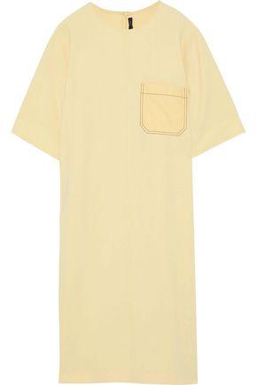 JOSEPH Ellis poplin-paneled crepe de chine dress
