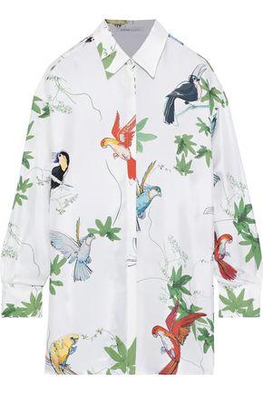 AGNONA Printed silk-twill shirt