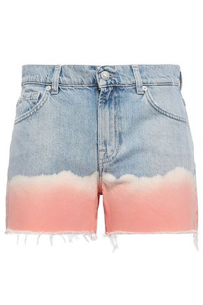 MARQUES' ALMEIDA Tie-dye denim shorts