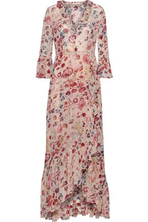 byTIMO Wrap-effect ruffled floral-print georgette maxi dress