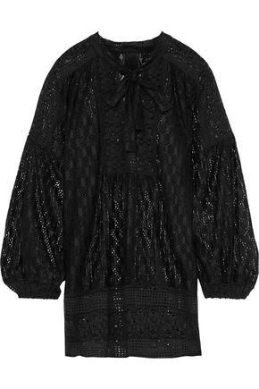 ANNA SUI Tie-neck lace tunic