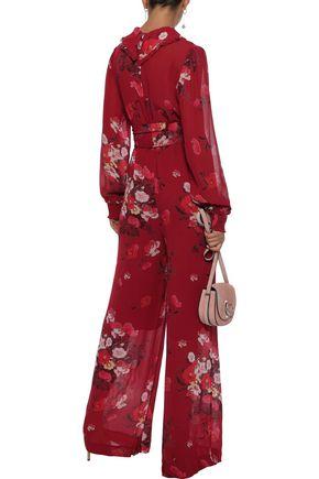 byTIMO Belted floral-print georgette jumpsuit