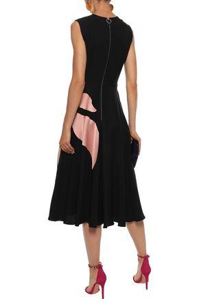 ROKSANDA Ilia appliquéd silk-blend crepe midi dress