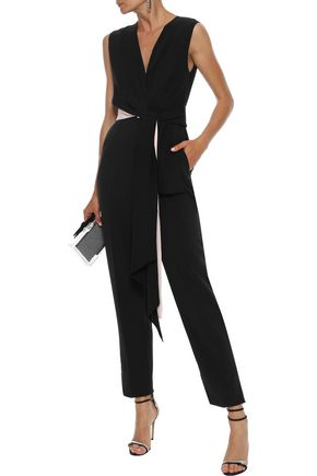ROKSANDA Rokuro belted crepe de chine and cady jumpsuit