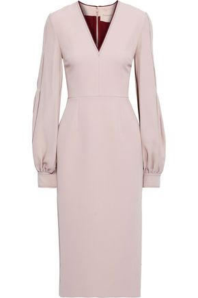 ROKSANDA Essi crepe-paneled silk-blend cady midi dress