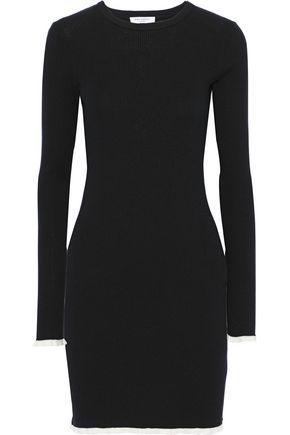 EQUIPMENT Fifi ribbed cotton and silk-blend mini dress