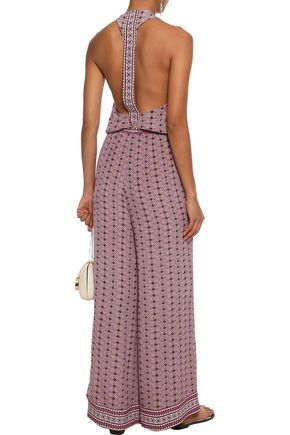 TALITHA Stella wrap-effect printed silk jumpsuit